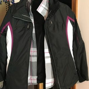 Winter coat with removable lining